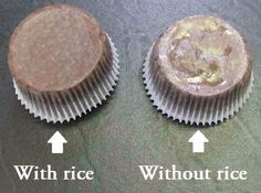 Rice Trick - Grease-free Cupcake Liners