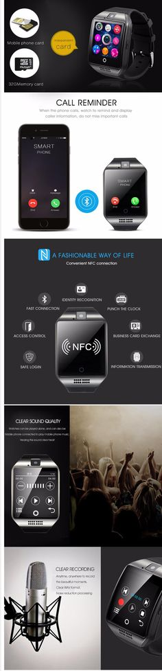 Q18 Smart Watch Bluetooth Smartwatch Phone with Camera TF/SIM Card Slot for Android Samsung Galaxy ,HTC,LG,Huawei,Google Nexus - menstoys.0nline   Hi Tech Gadgets   discounted prices