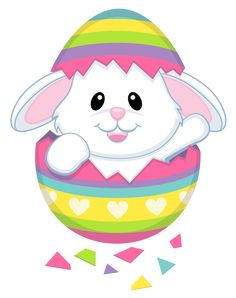 Cute Easter Bunny Transparent PNG Clipart
