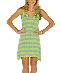 Take a look at this Neon Green Stripe Hooded Racerback Dress by Lagaci on today! Green Stripes, Neon Green, Affordable Dresses, Frocks, Hoods, Cute Outfits, Summer Dresses, My Style, Unique