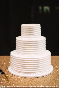 simple white 3 tiered wedding cake myweddingdotcom