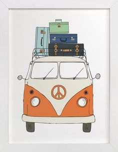 The Peace Van on the Road by Alston Wise at minted.com