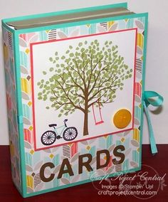 Book box for cards_ from craftprojectcentral.com