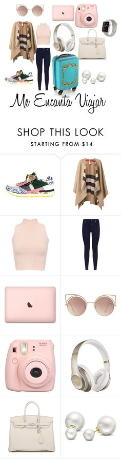 """""""lista para viajar"""" by bohemia55 ❤ liked on Polyvore featuring Dolce&Gabbana, Burberry, WearAll, 7 For All Mankind, H&M, MANGO, Fujifilm, Beats by Dr. Dre, Hermès and Allurez"""