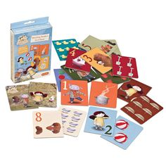 This 20 piece card game teaches numbers 1 – 10 with pictures in a fun way, and it's a memory game as well!