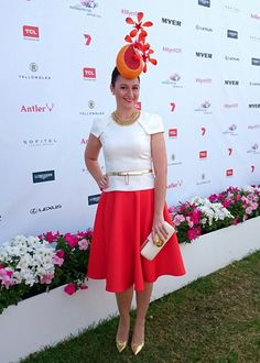 Oaks Day 2014 - all ready for the Myer Fashions on the Field Millinery Award