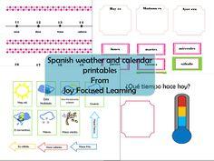 Joy Focused Learning: Spanish Calendar & Weather