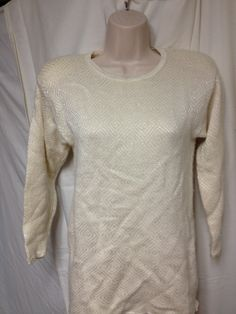 Petite Medium Lambswool Angora Pullover Sweater Petites Antique White longer length
