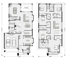 7 Modern House Plans Samples – Modern Home Best House Plans, Dream House Plans, House Floor Plans, 6 Bedroom House Plans, Home Decor Bedroom, Bedroom Ideas, Double Storey House Plans, House Layouts, Architecture Plan
