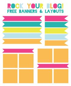 rock your blog, free blog resources, free blog photo layouts, free blog banners