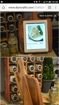 50 Brilliant Repurposing Ideas To Turn Old Kitchen Items Into Exciting New Things - DIY & Crafts Upcycled Crafts, Repurposed Items, Diy Crafts, Old Kitchen, Kitchen Items, Kitchen Utensils, Kitchen Hacks, Empty Wine Bottles, Glass Bottles