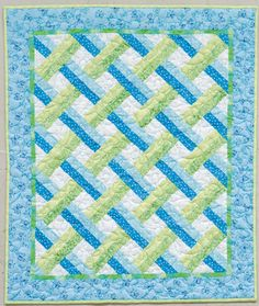The trellis looks complicated, but with minimal effort. for baby quilt?
