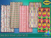 "Corporation ""SimsStroy"": The Sims 4. Decor Ikea shower curtain Set 05"