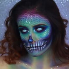 Are you looking for ideas for your Halloween make-up? Browse around this site for cute Halloween makeup looks. Cute Halloween Makeup, Halloween Makeup Looks, Mermaid Halloween Makeup, Mermaid Makeup Looks, Halloween Makeup Tutorials, Little Mermaid Makeup, Mermaid Costume Makeup, Mermaid Cosplay, Creepy Halloween Costumes