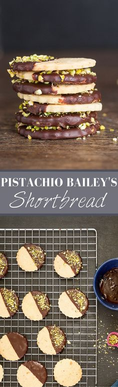 Pistachio Baileys Shortbread | Recipes From A Pantry