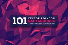101 Vector Geometric Backgrounds V.3 by graphicon on @creativemarket