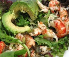Marinated Avocado Crawfish and Crab Salad Recipe courtesy of Galatoire's Cookbook: Recipes and Family History from the Time-Honored New Orleans Restaurant