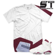 Shirts match Jordan 6 maroon retro 6's sneaker tees match j's.