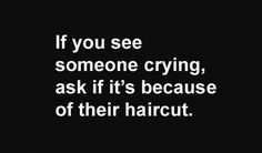 If you see someone crying, ...