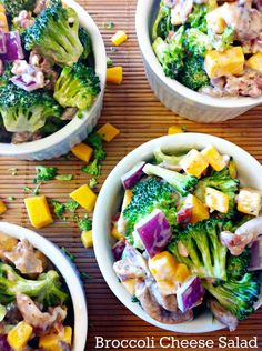 Broccoli Cheese Salad...with some bacon too! ~The Complete Savorist