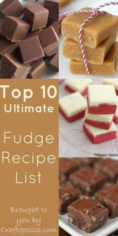 Fudge Recipes, The best and easiest fudge recipes including no fail fudge, christmas fudge and lots more, vanilla, chocolate, mint caramel.