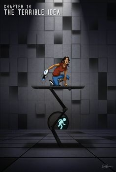 Blue Sky - Chapter The Terrible Idea by ElvenWhovian on deviantART. Love me some portal Portal 2 Funny, Blue Sky Portal, Portal Art, Aperture Science, You Monster, Fnaf Characters, Sky Art, Art Reference Poses, Indie Games