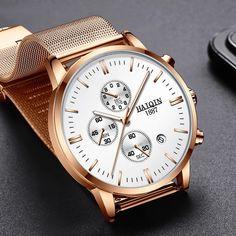 HAIQIN Official Luxury Branded Stainless Steel Men's Watch with Quartz Chronograph - Titanwise Skagen, Fossil, Apple Watch Wallpaper, New Mens Fashion, Men's Fashion, Thing 1, Watch Faces, Luxury Watches For Men, Luxury Branding