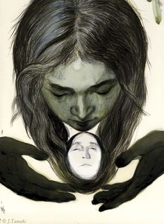 "Illustration by Jillian Tamaki for Christina Rossetti's ""Goblin Market & Selection Poems"""