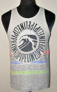 A cool vintage PIPELINE® tank top from the 80's. Visit the new PIPELINE® at www.pipelinegear.com