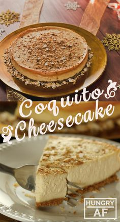 Coquito Cheesecake - A boozy twist on one of your favorite desserts.