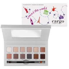 Let Cargo take you Around the World with this 12 shade eye shadow palette. <br /> Eye Shadows are arranged into 3 quads and 6 duos of expertly coordinated shades to achieve a variety of looks.<br /> This palette will help you create your perfect look, no matter where in the world your travels take you!<br />