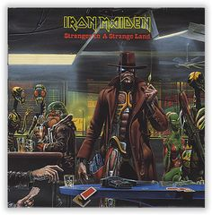 """For Sale -Iron Maiden Stranger In A Strange Land - poster sleeve UK  7"""" vinyl single (7 inch record)- See this and 250,000 other rare and vintage records & CDs at http://eil.com/"""
