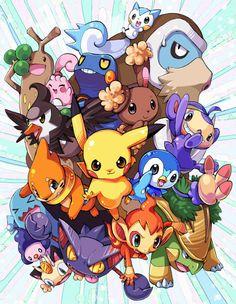 Pokémon Starters. by Ubin.