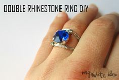 DOUBLE RHINESTONE RING DIY - MYWHITEIDEA
