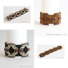 Beading Tutorial - Urban Retro Chic Bracelet - PDF file - for Personal Use Only