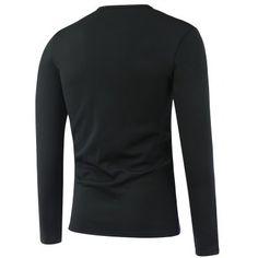 Long Sleeve Flag Pattern Flocking T-Shirt #women, #men, #hats, #watches, #belts, #fashion
