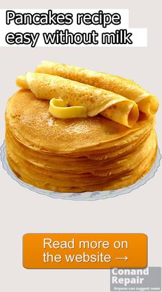 #Pancakes #recipe #without #milk, #easy.