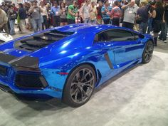 Lamborghini Wrapped in Avery Dennison Conform Chrome Blue