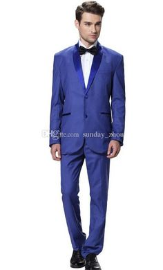 Assembling A Two Piece Blue Man Suit Men'S Formal Occasions When The Shawl Collar Suit To Marry The Groom Wear A Suit Party Men Mens Tuxedo Suit Suits And Tuxedos From Sunday_zhou, $85.03  Dhgate.Com