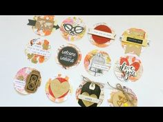 DIY Layered Sticker Embellishments - Using Sticker Labels - YouTube