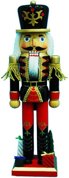 Nutcracker with Black Jacket and Gifts