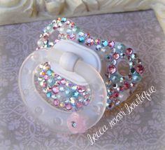 Bling Rhinestone Pacifier Paci Binky NUK Baby Pacifier Dummy on Etsy, $24.00