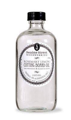 Rosemary Lemon Cutting Board Oil