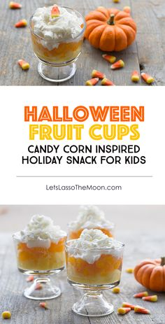 Halloween Fruit Kids for Kids: A healthy alternative inspired by the classic favorite, candy corn *My kids will love this recipe