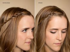 Hair and Make-up by Steph: Fifteen Ways to Pin Back your Bangs: Rope Braid; Braid