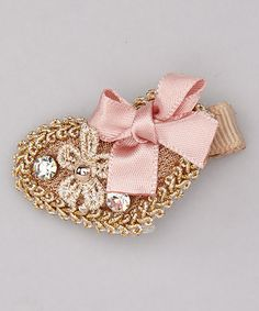 Take a look at this Gold Victorian Heart Clip by Cutie Pie Kid Couture on #zulily today!