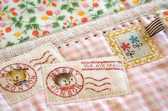 Postcard fabric stamps by nanaCompany