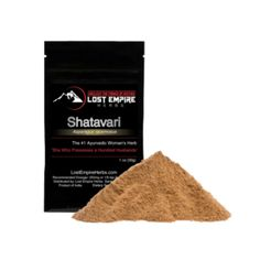 Shatavari, also known as Asparagus racemosus, has long been regarded as one of the top herbs in Ayurveda. It is often considered the female equivalent of ashwagandha, though both roots can benefit both sexes.*  Many herbs are drying in nature, but shatavari is not one of them. The demulcent quality moistens the entire system, helping to build and preserve all fluids.*
