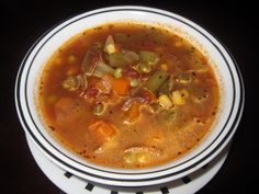 Vegetable Soup - omit the tomatoes and add some gluten-free rotini
