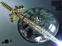 universo: SAUDAÇÕES À ESPADA DE EXCALIBUR! Anime Weapons, Fantasy Weapons, Gravity Falls Theory, Tarot, History Of Photography, Cool Items, Accessories, Swords, Destruction